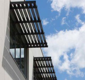 Brise Soleil Scotstream Louvres Solar Shading Smoke